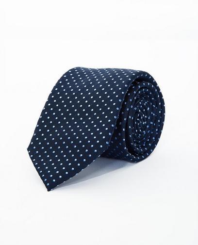 Cravate bleu nuit en soie